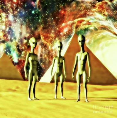 Science Fiction Rights Managed Images - Ancient Aliens Royalty-Free Image by Raphael Terra