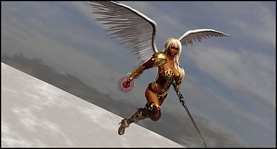 Sports Digital Art - Angel Warrior by Super Lovely