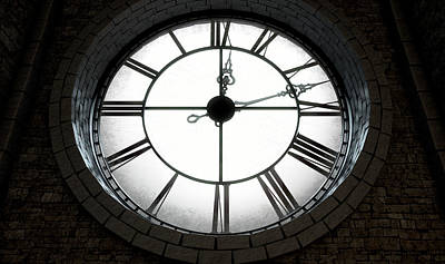 Macro Digital Art - Antique Backlit Clock by Allan Swart