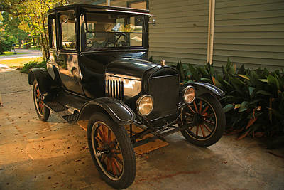 Photograph - Antique Car by Ronald Olivier