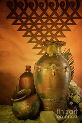 Photograph - Antique Jewelry Set Mounted On Pot by Kiran Joshi