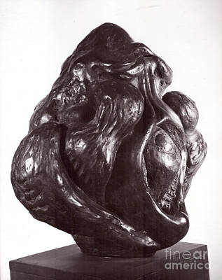 Sculpture - Ape Mother by Robert F Battles