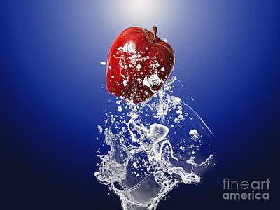 Apple Splash Art Print