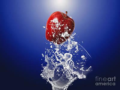 Peach Mixed Media - Apple Splash by Marvin Blaine