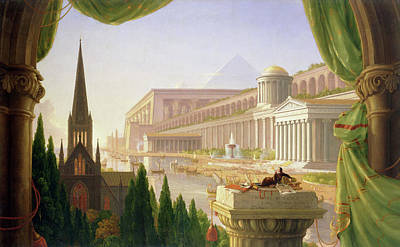 Cole Painting - Architect's Dream by Thomas Cole