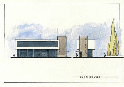 Architectural Wall Art - Painting - Architectural Drawing by Juan Bosco