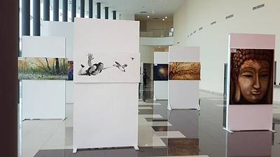 Photograph - Art Exhibition At City Theatre Playa Del Carmen by Angel Ortiz