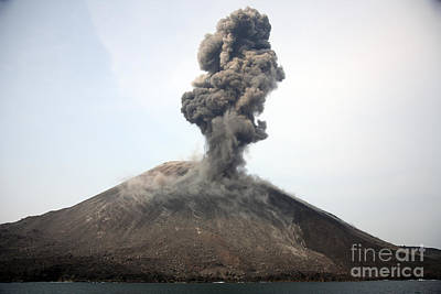 Land Feature Photograph - Ash Cloud From Vulcanian Eruption by Richard Roscoe