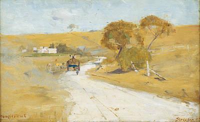 Australian Landscape Painting - At Templestowe by Arthur Streeton