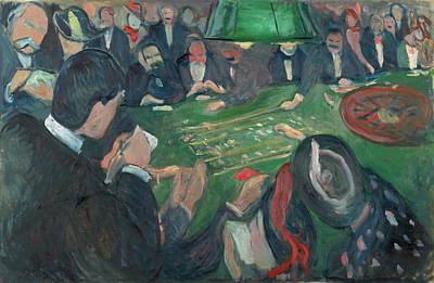 Expressionist Painting - At The Roulette Table In Monte Carlo by Edvard Munch
