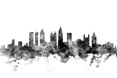 Atlanta Digital Art - Atlanta Georgia Skyline by Michael Tompsett