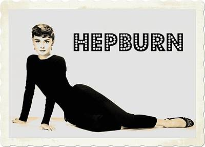 Singer Digital Art - Audrey Hepburn by John Springfield