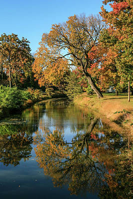 Door Locks And Handles - Autumn in Forest Park St Louis Missouri by Garry McMichael