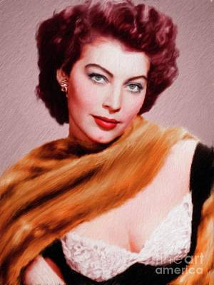 Musician Royalty-Free and Rights-Managed Images - Ava Gardner, Vintage Actress by Mary Bassett