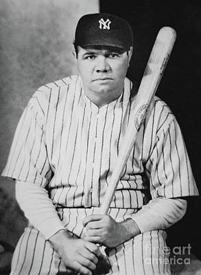 Babes Wall Art - Photograph - Babe Ruth by American School