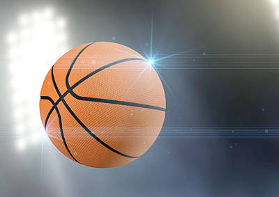 Basketball Digital Art - Ball Flying Through The Air by Allan Swart