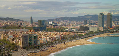 Photograph - Barcelona Beach On Morning Sunrise by Anek Suwannaphoom