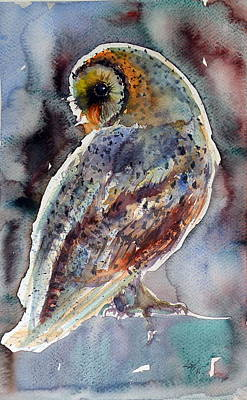 Owls Painting - Barn Owl by Kovacs Anna Brigitta