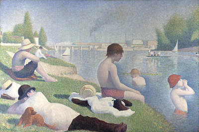 Bathers At Asnieres Art Print by Georges Seurat