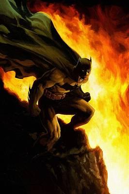 Superman Digital Art - Batman Black by Egor Vysockiy