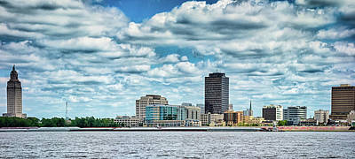 Photograph - Baton Rouge Downtown Skyline Across Mississippi River  by Alex Grichenko