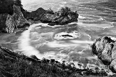 Ledge Photograph - Beautiful Mcway Falls Along The Big Sur Coast. by Jamie Pham