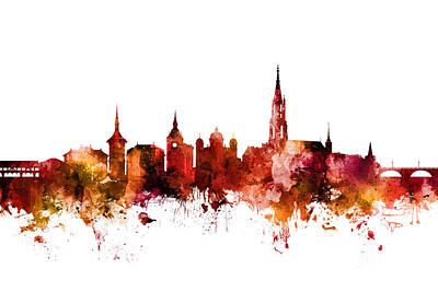 Bern Switzerland Skyline Art Print