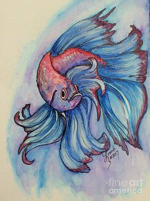 Painting - Betta by Lorah Tout