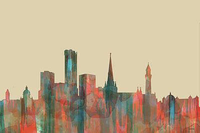 Digital Art - Birmingham England Skyline by Marlene Watson