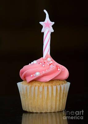 Birthday Cupcake Art Print by Ruth Black