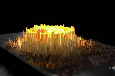 Programming Digital Art - Bitcoin Cloner Smartphone by Allan Swart