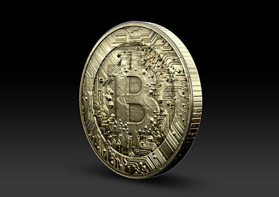 Bitcoin Physical Art Print by Allan Swart