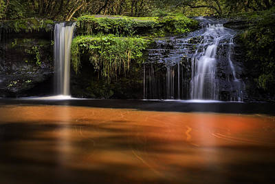 Photograph - Black Devon Waterfalls by Jeremy Lavender Photography