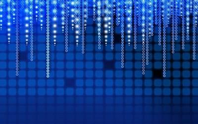 Pattern Digital Art - Blue by Super Lovely