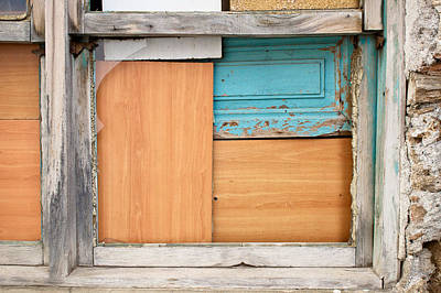 Boarded Up Window Art Print by Tom Gowanlock