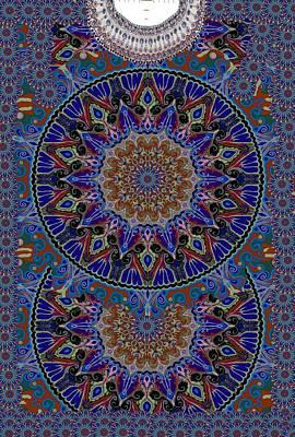 Tapestries - Textiles Digital Art - Boho Design by Sandrine Kespi