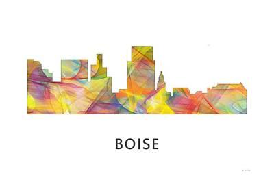 Boise Idaho Skyline Art Print by Marlene Watson