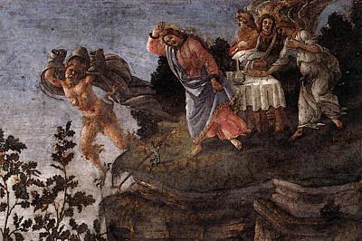 Digital Art - Botticelli The Temptation Of Christ   by Sandro Botticelli