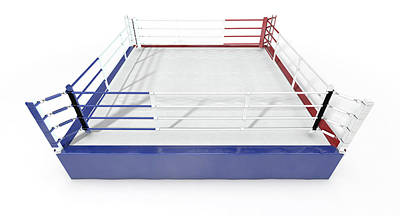 Isolated Digital Art - Boxing Ring Modern Isolated by Allan Swart