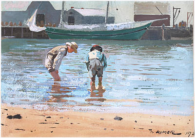 Painting - Boys Wading by Winslow Homer