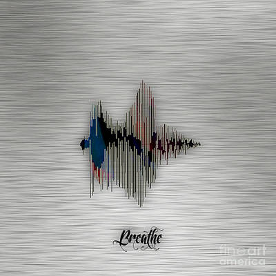 Mixed Media - Breathe Spoken Soundwave by Marvin Blaine