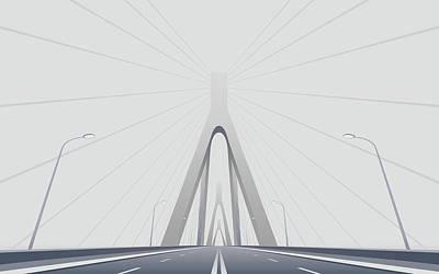 Bridge Digital Art - Bridge by Alice Kent