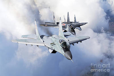 Creative Charisma - Bulgarian And Polish Air Force Mig-29s by Daniele Faccioli