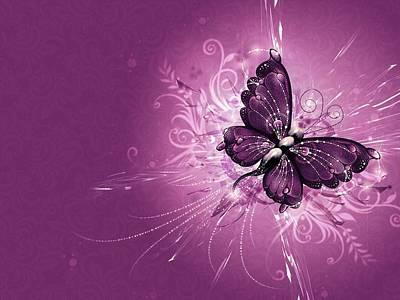 Pattern Digital Art - Butterfly by Super Lovely