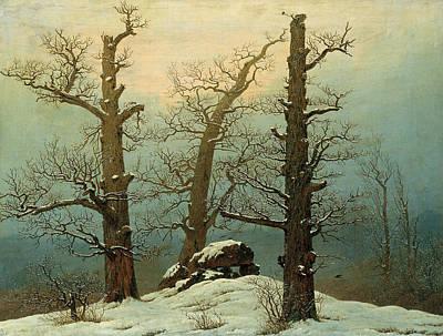 18th Century Painting - Cairn In Snow by Caspar David Friedrich