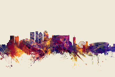 Cape Town South Africa Skyline Art Print