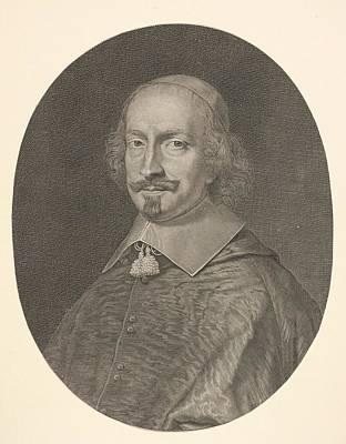 Robert Nanteuil Drawing - Cardinal Jules Mazarin by Robert Nanteuil