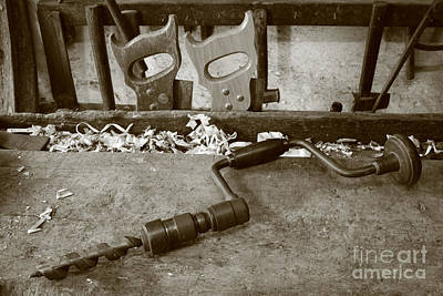 Handsaw Photograph - Carpentry Tools by Gaspar Avila
