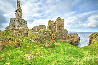 Photograph - Castle Sinclair Girnigoe by Benny Marty