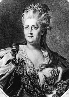 Catherine II (1729-1796) Print by Granger